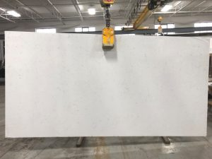 Carrara White quartz slab