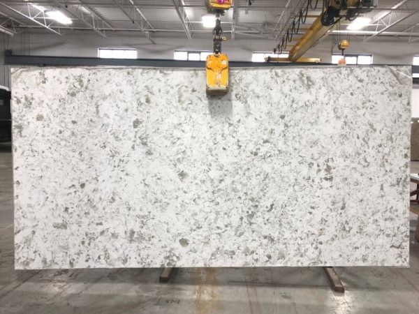 Light Serra Sparkle quartz slab