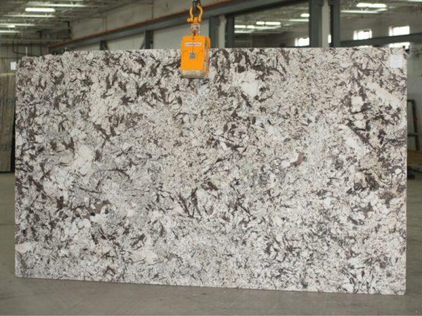 New Aspen White granite slab