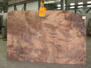 Red Bordeaux granite slab