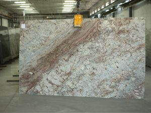 Sienna Bordeaux granite slab