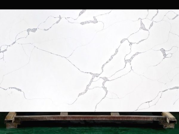 Stream quartz slab