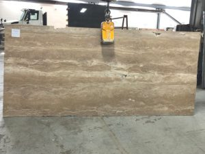 Travertino Noce 2cm marble slab
