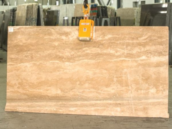 Travertino Noce 3cm marble slab