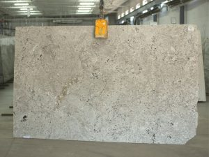 arctic white granite slab