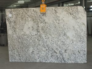 aryan white granite slab