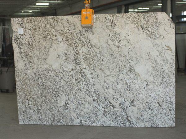 aryan white granite slab