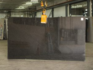brazilian black granite slab