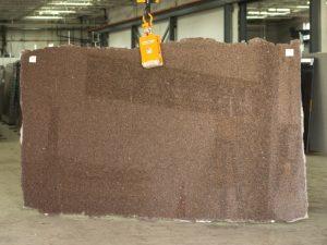 castor brown granite slab
