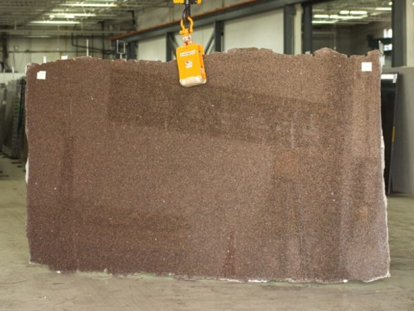 castor brown granite slab
