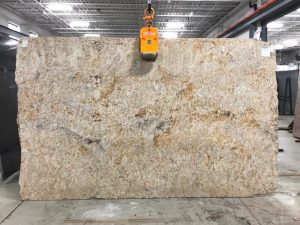 golden sand granite slab